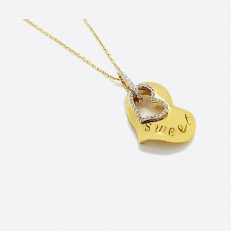 Sweet Heart Gold Pendant