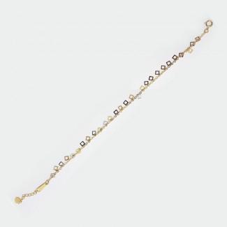 Cubes Gold Bracelet