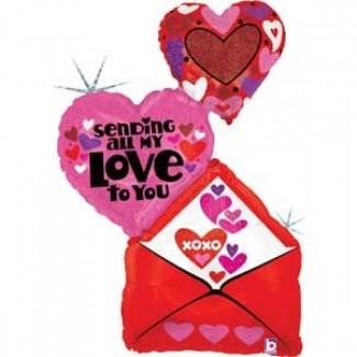 Sending All My Love Envelope Balloon 41 Inch