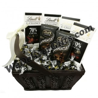 Lindor Dark Chocolate in A Basket