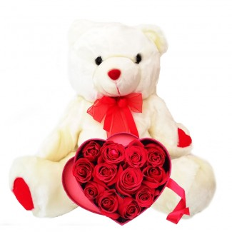 You re my Lovely Bear with Heart Roses