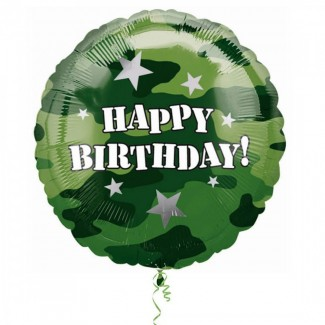 Army Theme Happy Birthday Balloon