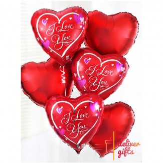 Red Love Balloon Set