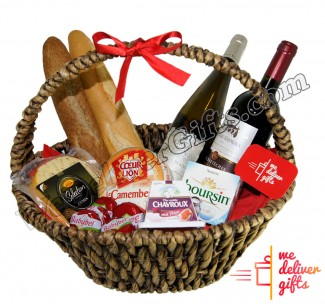 Red, White and Cheese Luxury Gift Basket