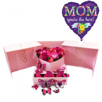 Full Pink package Box with butterflies