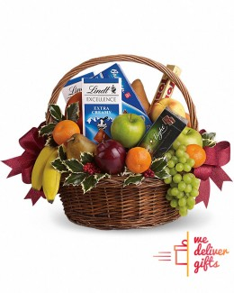 Cocktail of Fruits and Chocolates Basket