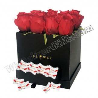 Roses and Rafaello in an Elegant Box