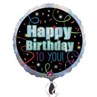 Brilliant Happy Birthday Standard Foil Balloons