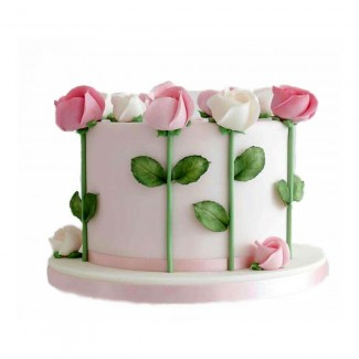 Roses All arround the Cake