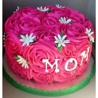 Roses Mom Cake