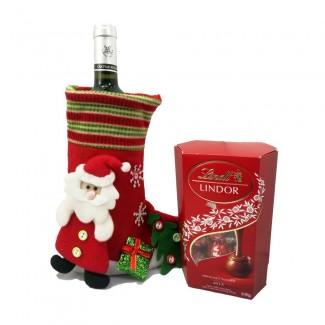 Wine and Chocolate Christmas Gift