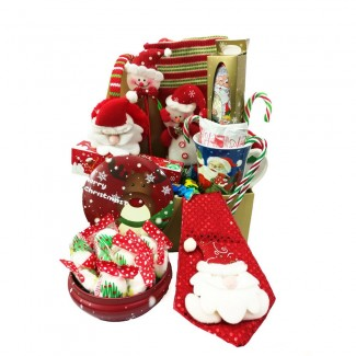 Christmas Delights and accessories in One Basket