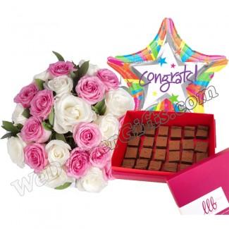 Triple Chocolate Squares Congrats Combo