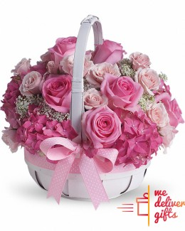 Pink basket Flowers