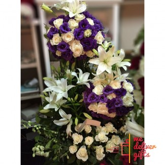 Blushing Violet Wedding Flowers Arrangement