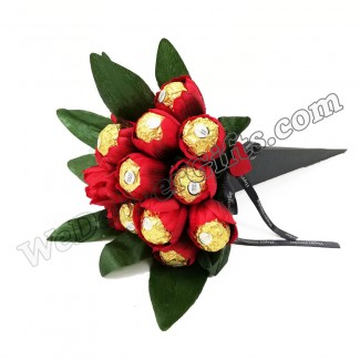 Ferrero chocolate Red Tulip Bouquet