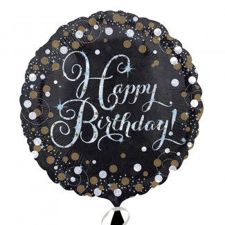 GOLD SPARKLING CELEBRATION HAPPY BIRTHDAY STANDARD FOIL BALLOONS