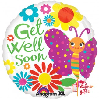 Get well Soon Butterfly Foil Balloon