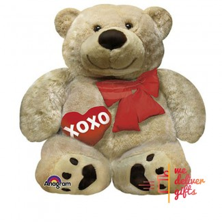 Teddy Bear XOXO Love Balloon