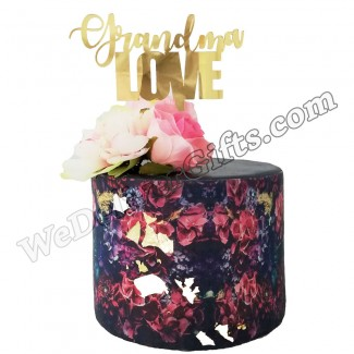Grandma Love Design Cake