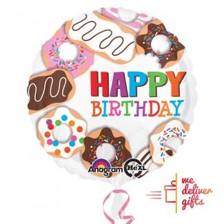 Donuts Happy Birthday Balloon