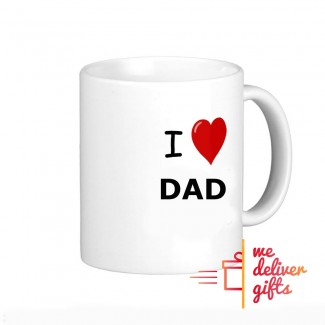 I Love Dad Personalized Mug