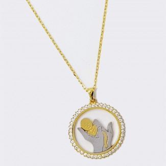 Hold me MOM Gold Necklace