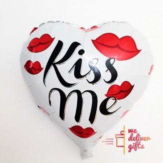 Kiss Me Heart Lips Balloon