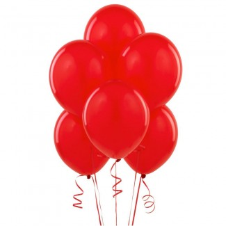 Red flying Balloons bouquet