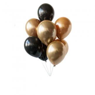 Black n Gold Balloon Bouquet