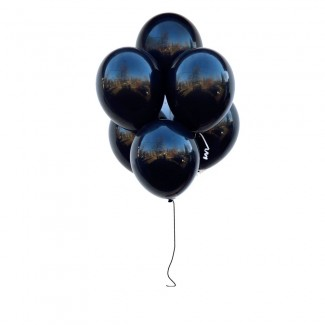 Latex black in black balloons