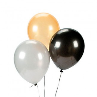 Latex black silver Gold balloons