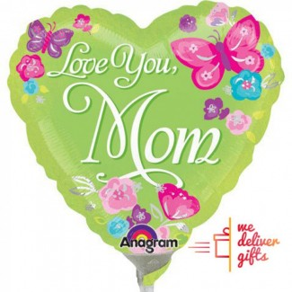 Love You Mom Painterly Balloon