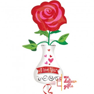 Love You Vase Supershape Balloon