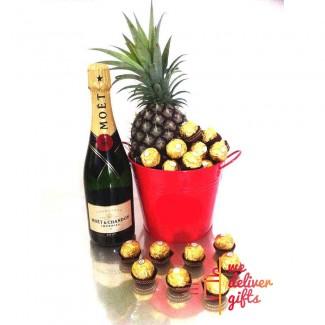 Champagne Fruit Bucket Gift