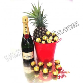 Champagne Fruit Bucket Gift