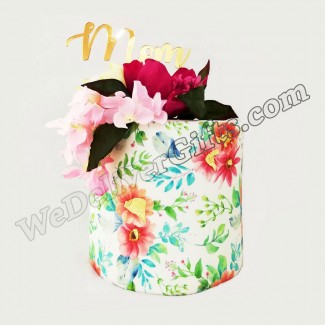 MOM Flowers design Cake