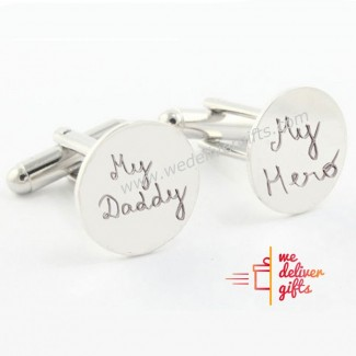 My Daddy My Hero Cufflinks