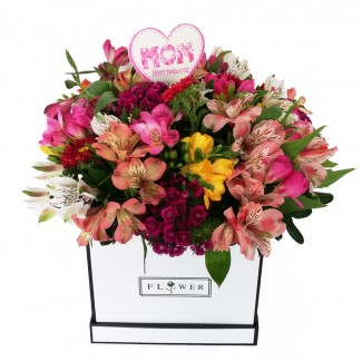Multi Colored Luxury MOM Flower box
