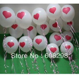 In Love with Hearts Flying Balloons