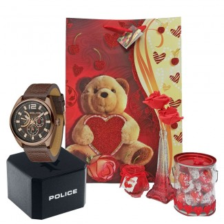 Valentine Velocity Analog Brown Men Watch Package