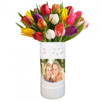 Printable Ceramic Vase with Tulips