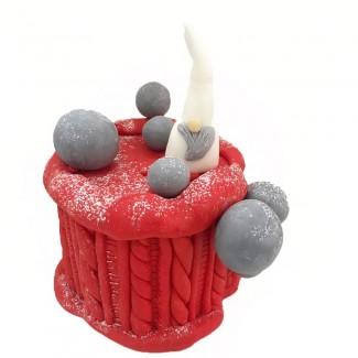 Christmas red cake