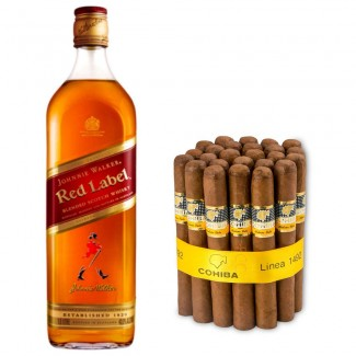 Johnnie Walker Red Label and Cohiba