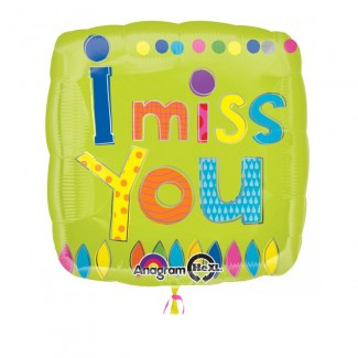 Green I MISS YOU Balloon