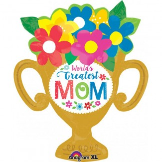 XL Greatest MOM Trophy Cup Balloon