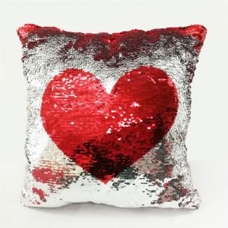 Glitter Square Love Pillow