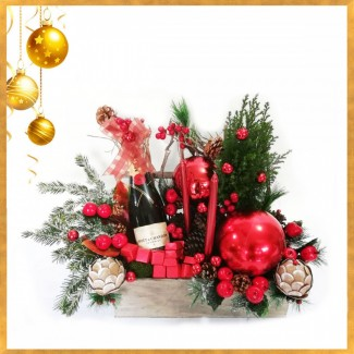 Moet Christmas Arrangement
