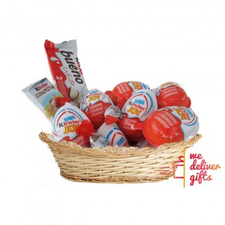 Kinder chocolate gift basket