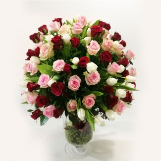 Tulips And Roses Bouquet